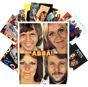 ABBA-Postcards-24-cards-Vintage-Music-Photos-Poster-Magazine-Cover-1221