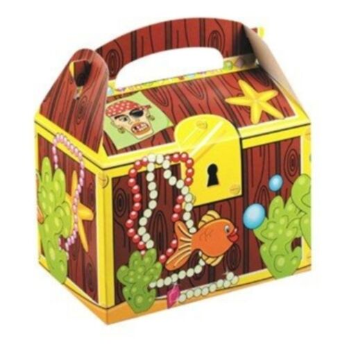 10 Childrens Treasure Chest Pirate Food Box  ~ Picnic Birthday Party Plate Boxes