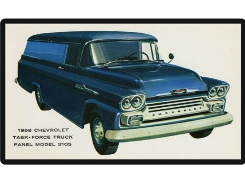 Tool Box Magnet 1958 Chevy Task Force Panel Truck Refrigerator