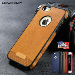 d517a2a2491 For iPhone 5 5s SE 6 6s 7 7 Plus Case Original Genuine PU Leather ...