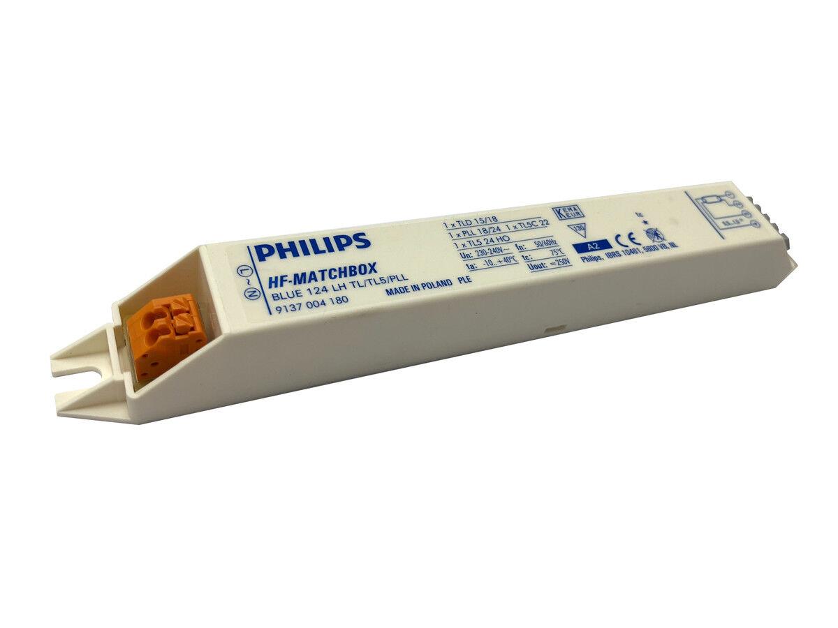 10x Philips Matchboxazul124LH Balastro HF Runs 1 X T5  T8  PL-L