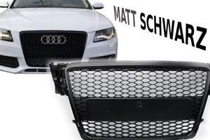 Mate-Negro-Parrilla-para-Audi-a4-Allroad-Avant-de-Panal-Frontal-Parachoques