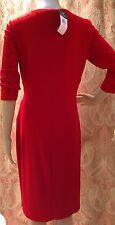 Ralph Lauren 3/4 Sleeve Lighthouse Red Surplice Dress Size 14W - NWT!