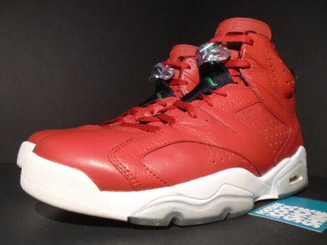 6b640739522d09 Nike Air Jordan 6 Retro Spizike Size 12 History HOJ Varsity Red Green 694091 -625 for sale online