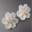 White-Camellia-Flower-Stud-Earrings-Fashion-Women-Petals-Acrylic-Crystal-Jewelry thumbnail 9