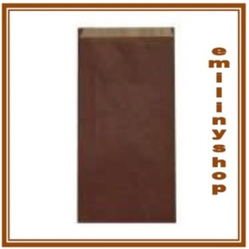 lot 50 pochettes cadeau papier enveloppe kraft bijoux 12X4X21 chocolat NEUF