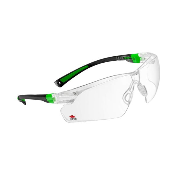 e95dad9729 NoCry Safety Glasses With Clear Anti Fog Scratch Lenses 506UG Green Frames