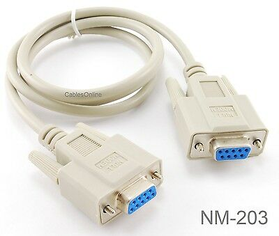 6ft DB9 Female to DB25 Female Serial Null Modem Cable CablesOnline NM-606