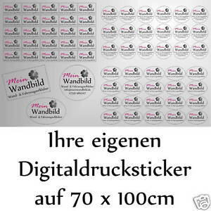 Digitaldruck-Aufkleber-Sticker-Druck-Wunschdruck