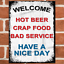 thumbnail 21 - Funny Metal Signs Retro Wall Plaque House Garage Shed Cave Joke Novelty Tin Sign