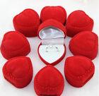 10 Velvet Heart Ring Show Display Box Jewellery Earring Brooch Storage Case dsuk