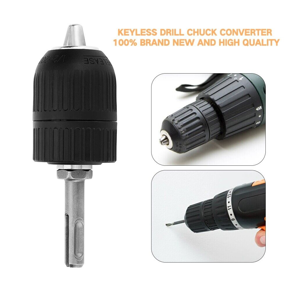 Professional Heavy Duty 2-13mm Keyless Drill Chuck//SDS Tools Adapter Hardware
