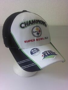 9e130e0a0 Image is loading Pittsburgh-Steelers-Super-Bowl-XLIII-Champions-Cap-Hat-