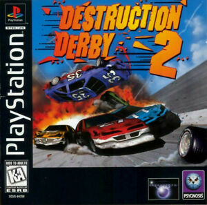 Destruction Derby 2 Sony PlayStation 1 PS1 PSX Game Only