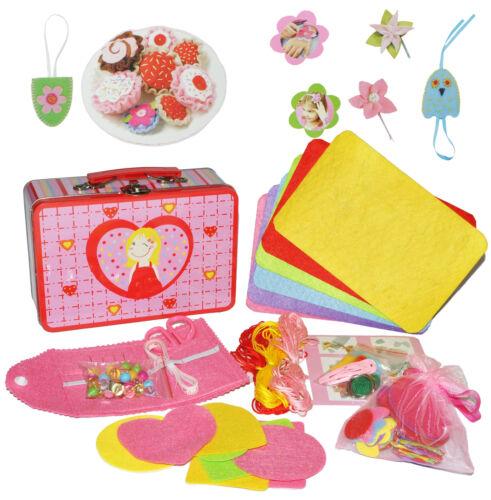 XL set nähkoffer//cesta de coser con accesorios-para niños-bricolaje coser//nähset fi