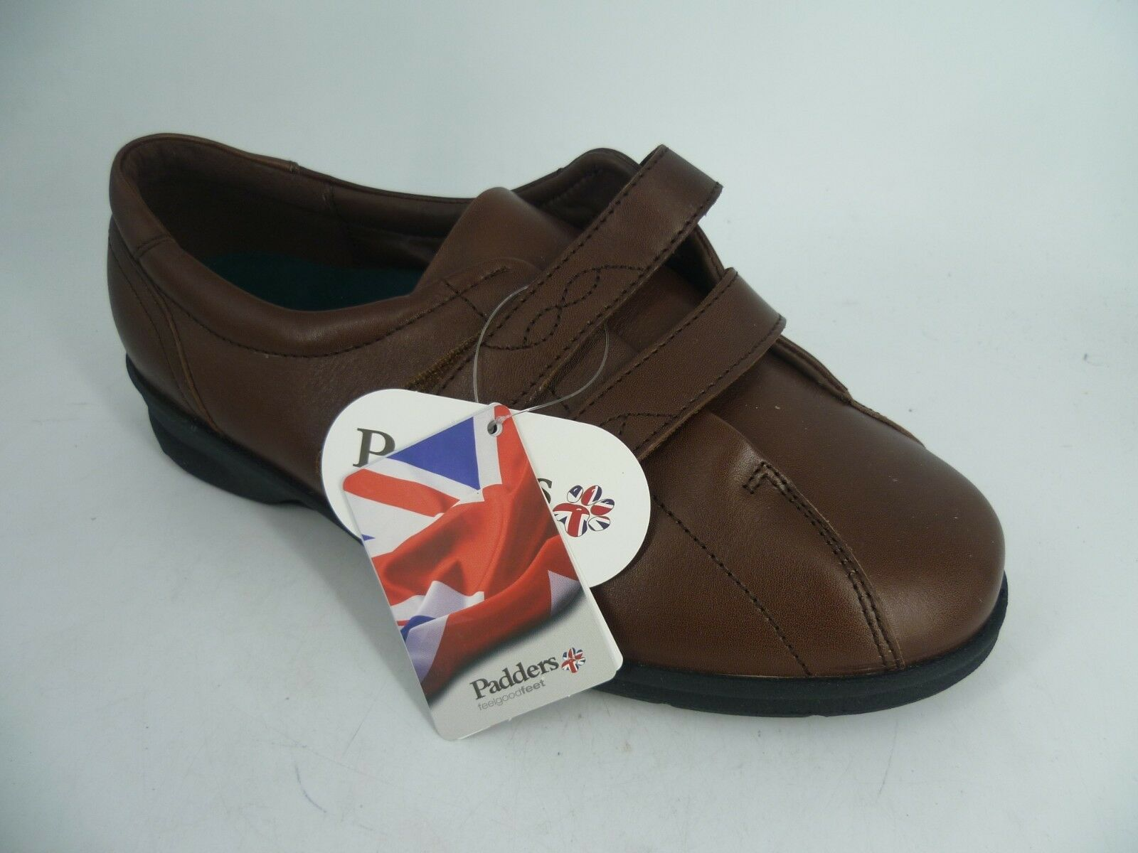 Padders Kerry marron marron marron Plat Tactile Fermeture Chaussure Dual Fit UK 8 EU 42 LN181 UU 07 a97dd6