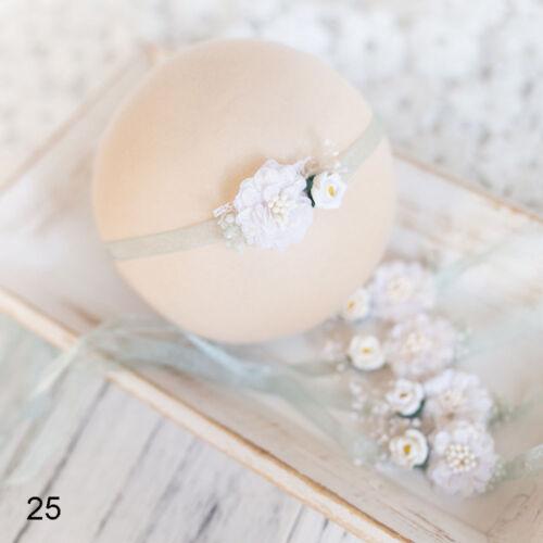 Newborn  Flower Pear Headband Girl Hair Accessories Photography Props new