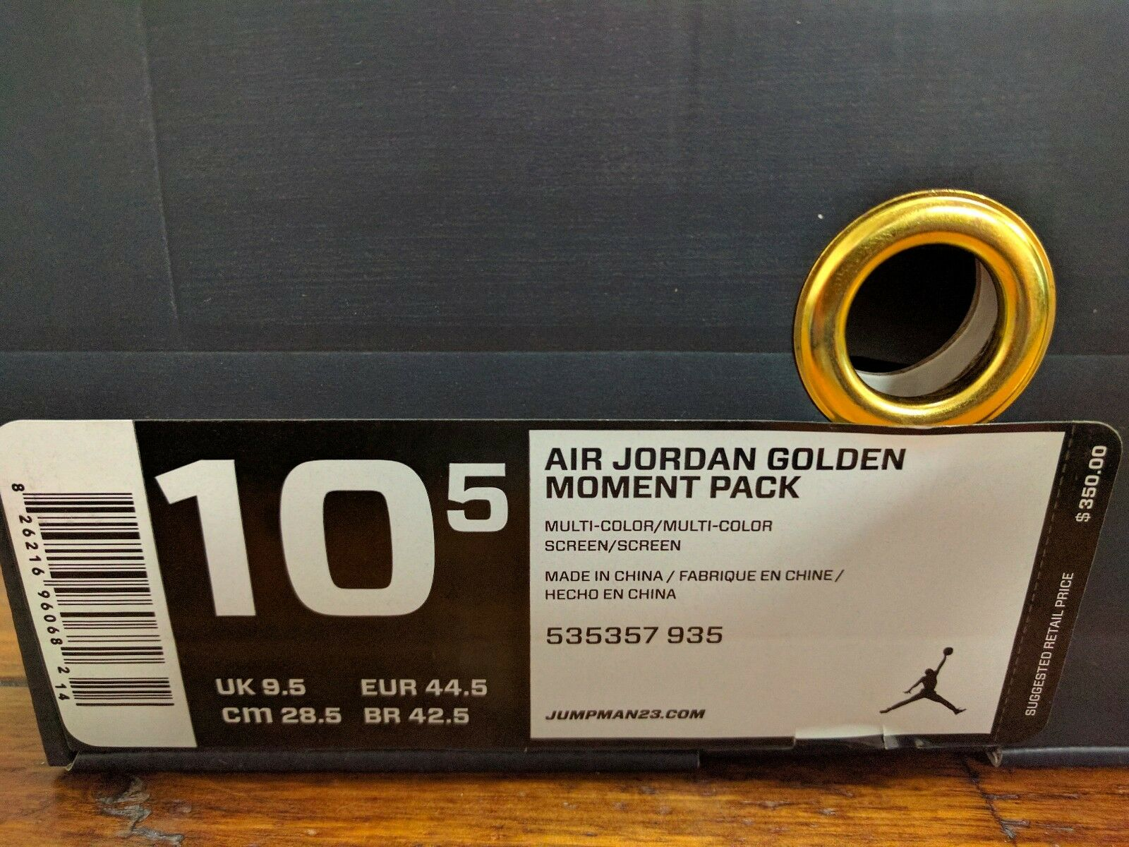 Jordan 6 7 VI VII GMP gold Moment Package 2012 Rare Limited size 10.5 535357 935