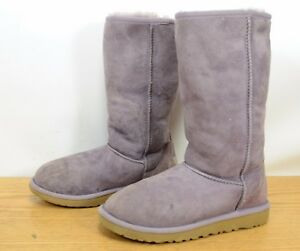 69548818ce5 Details about UGG Australia Classic Tall Sheepskin Suede Warm Purple Winter  Boots Girls Sz 3