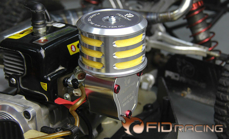 FID Racing LOSI 5IVE-T  CNC alloy gas mask airfilter set air filter