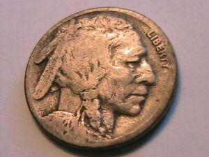 1920-S-Buffalo-Nickel-5C-G-Good-Grade-Nice-Old-Tone-USA-Indian-Five-Cent-Coin