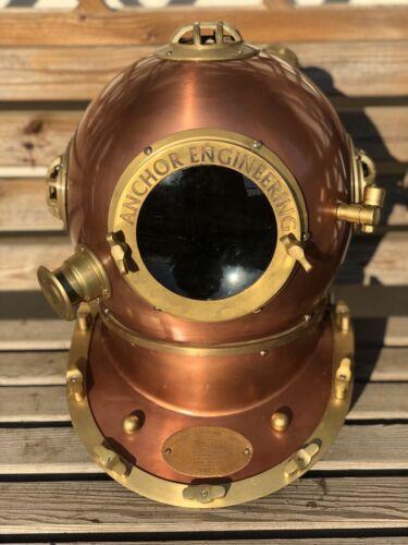 """Casco De Buceo ingeniería de reproducción de 18/"""" Ancla Mark V profundo mar Buzos De Cobre"""