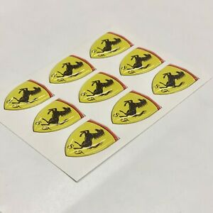 50mm-FERRARI-Sticker-Decal-HIGH-GLOSS-DOMED-GEL-RESIN-FINISH
