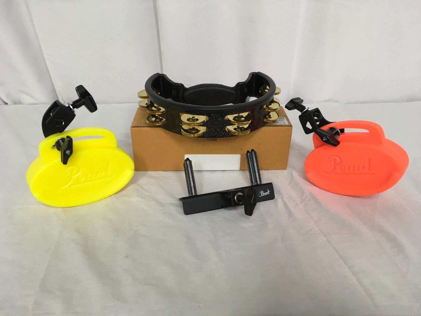 Pearl Clave Blocks-Tambourine Set of 3(PBL-20 PBL-30 PTM10GH)NAMM Models