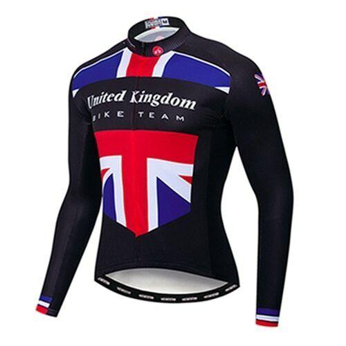 2020 Cycling Jersey Men Winter Fleece Colombia Bike Long Sleeve MTB Bicycle