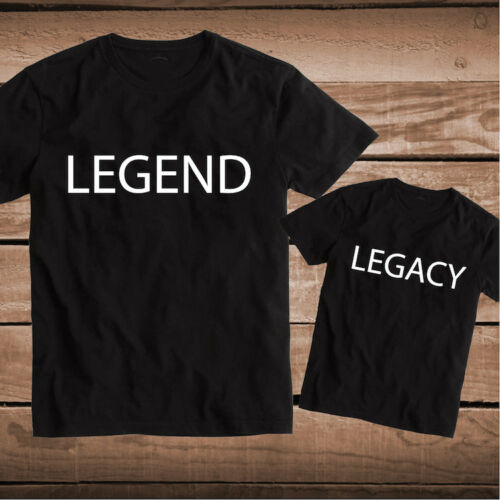 Legend Legacy Custom Tee Tees T-Shirt Father and Son Daughter Matching Top, bb93