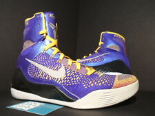 Nike Zoom KOBE IX 9 ELITE SHOWTIME LAKER PURPLE GOLD ORANGE GREY 630847-500 10.5