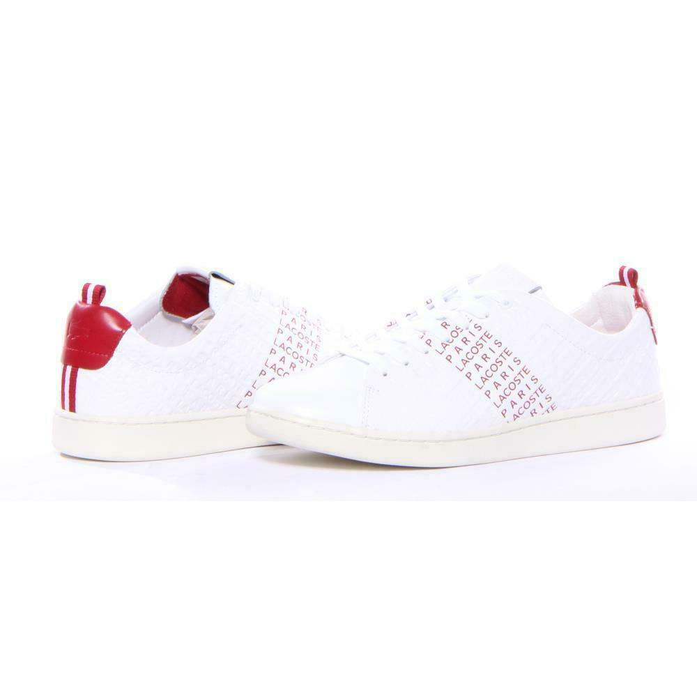 Men Lacoste chaussures Carnaby Evo Fashion blanc Taille 11