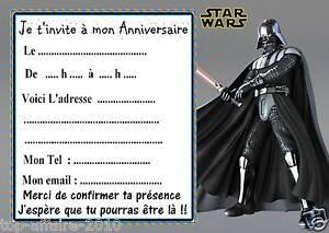 Turbo 5 cartes invitation anniversaire star wars 01 d'autres articles en  CR86