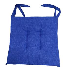 Set 8 cuscini sedia Blu,trapuntati al centro 40x40 spessore 5 cm copri sedia
