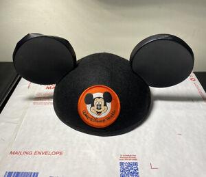 VINTAGE-MICKEY-MOUSE-EARS-Adult-CAP-WALT-DISNEY-WORLD-HAT-FELT-56-cm