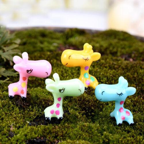 Animals Miniature Giraffe Ornament Home Decor Garden Figurine Bonsai Statue  B$