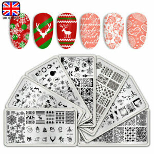 BORN-PRETTY-Christmas-Festival-Theme-Nail-Stamping-Plates-Nail-Tips-Decoration
