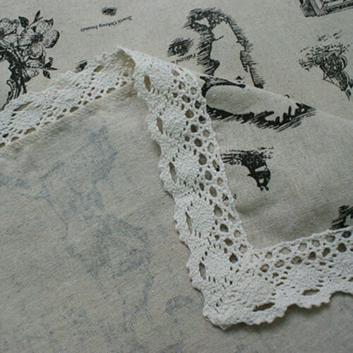 Map Pattern Cotton Linen Tablecloth Rectangle Table Cloth Cover Dining Home Deco