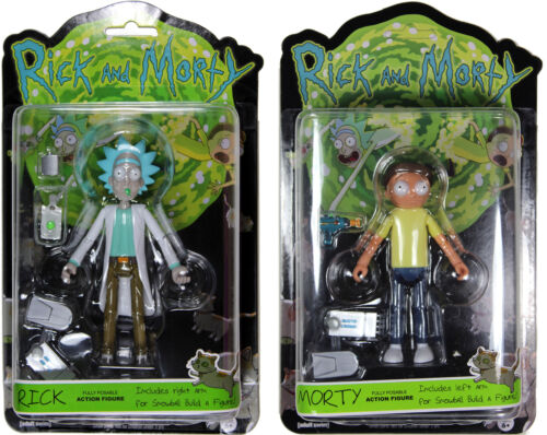 """Rick and Morty ~ 5/"""" RICK /& MORTY ACTION FIGURE SET ~ Funko R+M"""