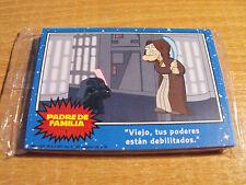 Family Guy 12 conjunto de vista previa de tarjeta para cosecha Azul/Star Wars, Idioma Español