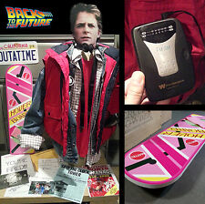 Marty Mcfly Halloween Costume L Puffy Vest Back to the Future Hoverboard Cosplay