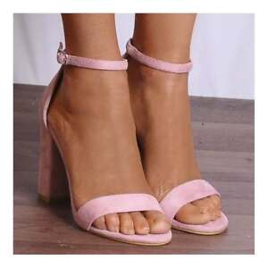 50e75d0f22ca BABY PALE PINK BARELY THERE STRAPPY SANDALS HIGH HEELS PEEP TOES ...