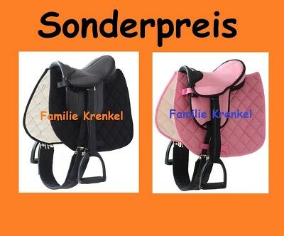 Set Shettysattel Mini Sattel My little Pony+Stern Halfter Holzpferd bis ca.145cm