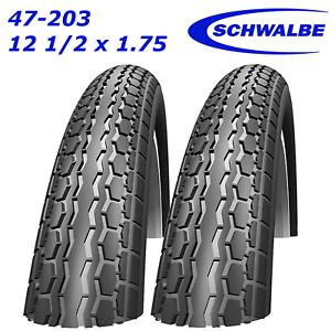 2 X Schwalbe Hs140 47-203 12 1//2x1.75 Kinderwagen Reifen Passend für Phil /& Teds