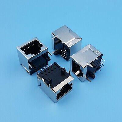 10Pcs RJ45 Network Ethernet 8P8C Female Socket Connector 8Pin PCB Mount j0j