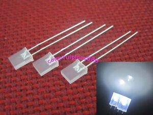50pcs 2x5x7mm White Diffused Led Rectangle Rectangular Light LED Lamp Bulb New