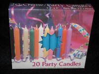 Christmas Angel Chime Candles, Light Blue, Box Of 20, Nib, 1/2 By 4 Tall