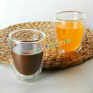250-350ml-Doppelwandig-Hitzebestaendig-Glas-Kaffeebecher-Trinken-Tasse