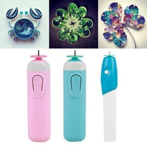 Electric Quilling Slotted Tools Automated Paper Volume Curling Pen DIY Handmade