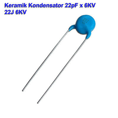 Hochspannung Ceramic Kondensator 10nF 2000V 20/% 15x18mm RM:7,5mm 5 Stück